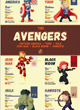 Affiche Originale The Avengers Team Stats - ref.7397