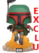 Star Wars Pop Figurine Vinyl Boba Fett Flying Swcb Exclu  - ref.7815