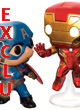 Marvel Pop Figurine Vinyl 2-pack Iron Man Captain America Mcc Exclu  - ref.7818