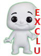 Movie Figurine Pop Vinyl ( Ghostbusters 2016 ) Rowan's Ghost Glow In The Dark Exclu  - ref.7884