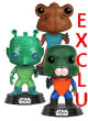 Star Wars Pop Figurine 3-pack Greedo, Hammerhead, Walrus Man Exclu  - ref.8729