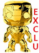 Marvel Pop Figurine Marvel Studios 10th Anniversary Chrome Iron Man  - ref.9232