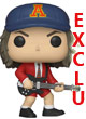 Rocks Pop Figurine Vinyl ( Ac/dc ) Angus Young Red Jacket Exclu - ref.9674