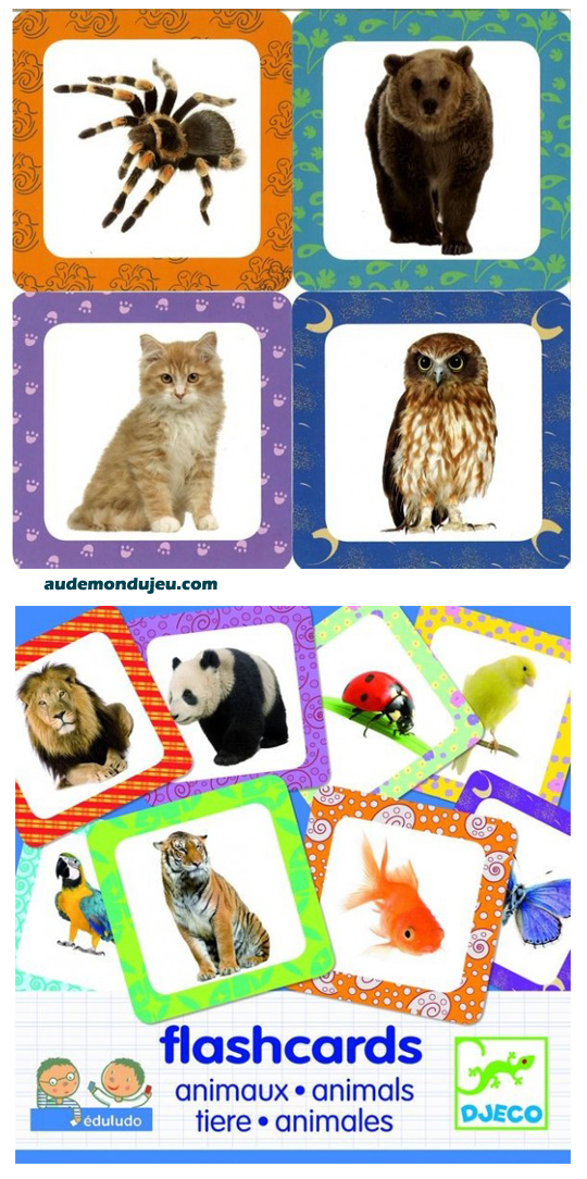 enfants jeux djeco flashcards animaux. Black Bedroom Furniture Sets. Home Design Ideas